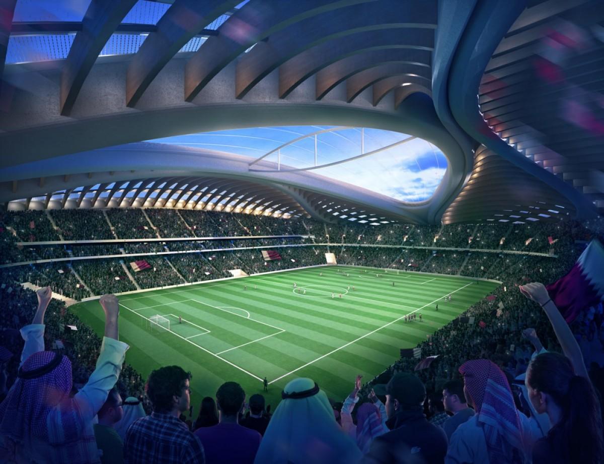 Stade d 39 al wakrah au qatar pour la coupe du monde 2022 par for Piscine zaha hadid