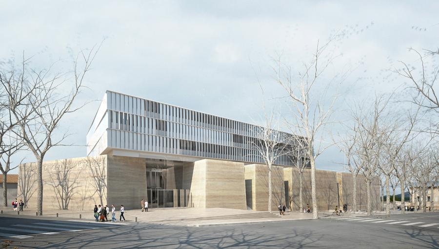 Marc barani architecturefr for Tribunal de grande instance salon de provence