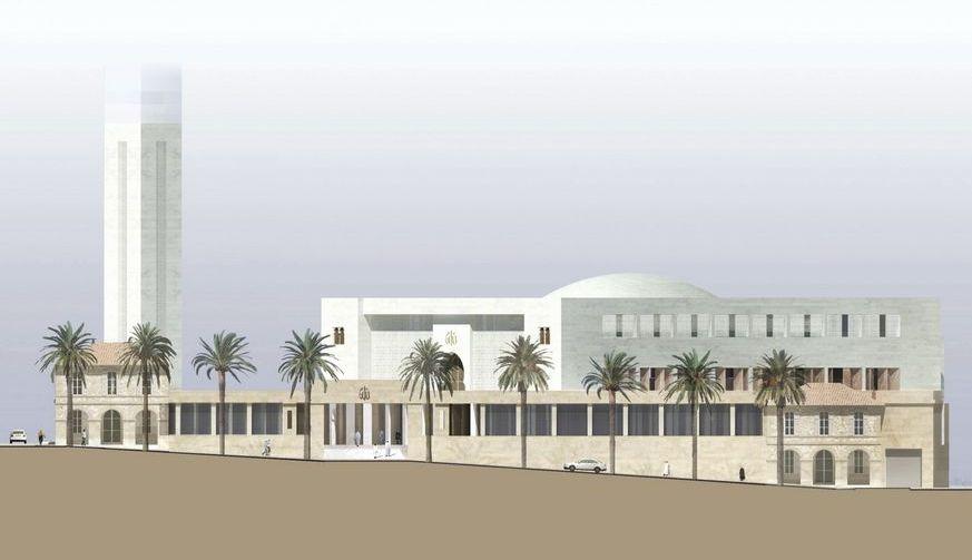 c 39 est reparti pour le chantier de la grande mosqu e de. Black Bedroom Furniture Sets. Home Design Ideas