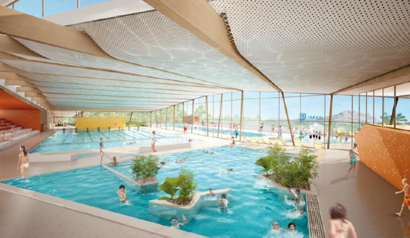 Nouveau centre aquatique pour l 39 aggom ration aixoise situ for Cash piscine venelles