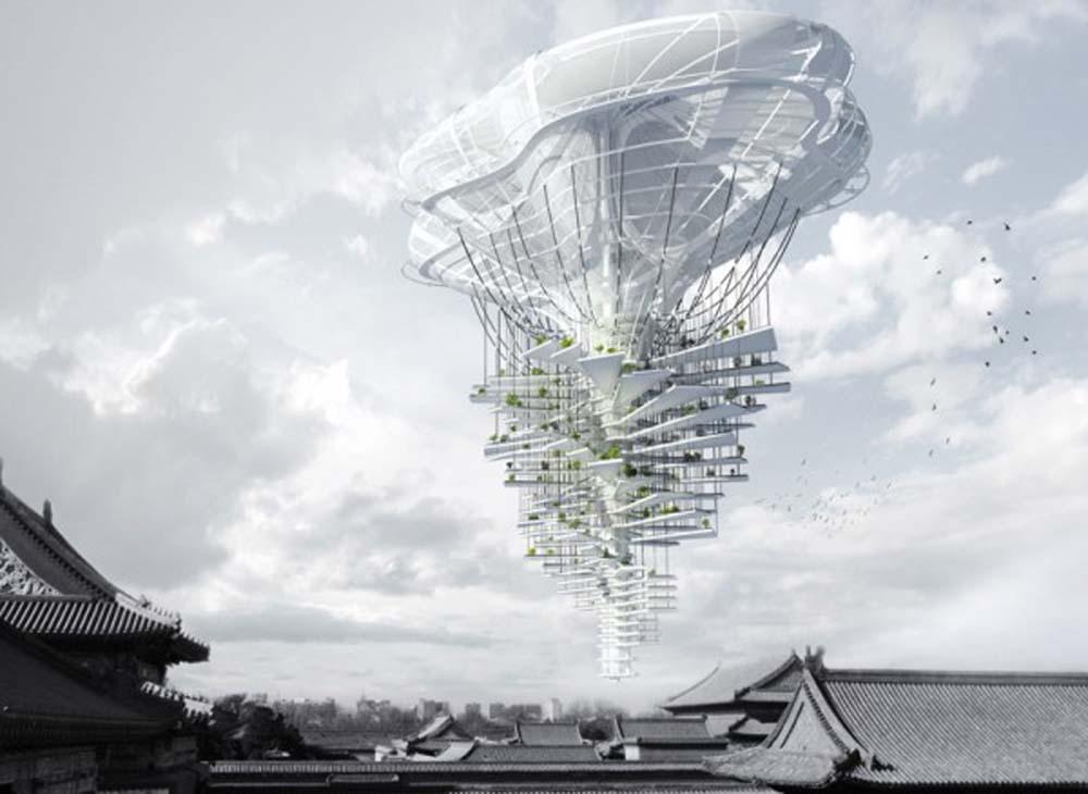 Light Park, Gratte-ciel flottant par Ting Xu & Yiming Chen