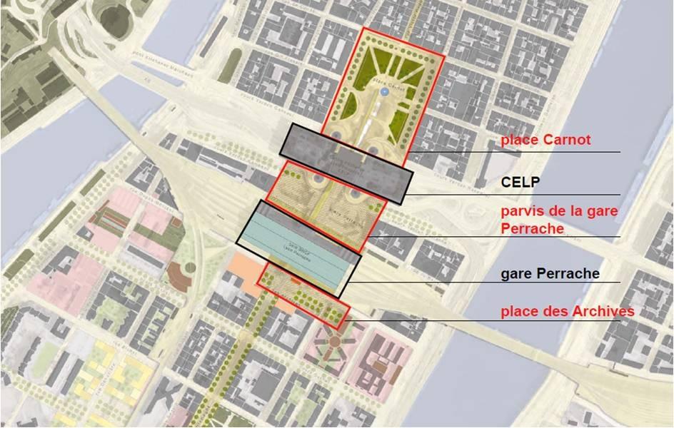 Projet de réaménagement du Pôle d'Echanges Multimodal de Lyon Perrache