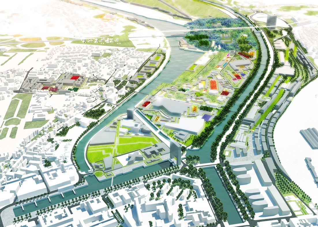 Presqu 39 ile de caen 600 hectares de projets en centre ville for Projet de plan