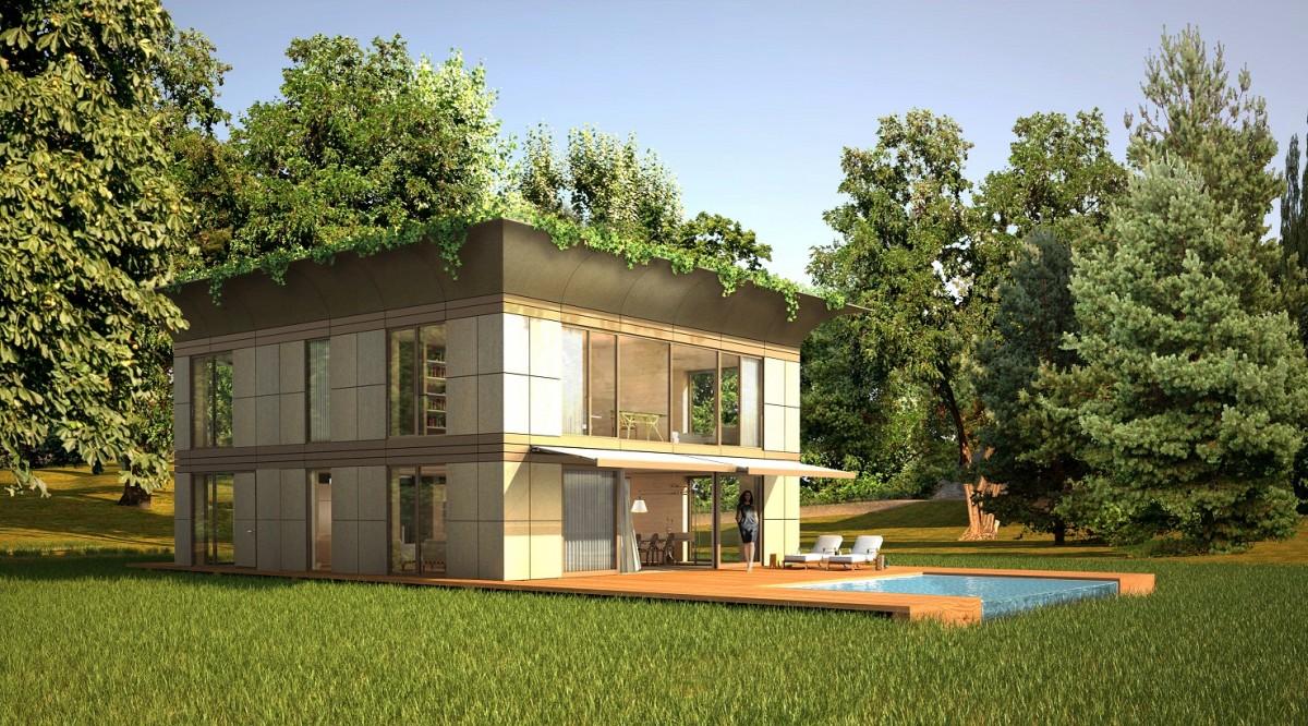 Starck et l 39 entreprise riko lancent la maison cologique en kit - Maison ecologique en kit ...