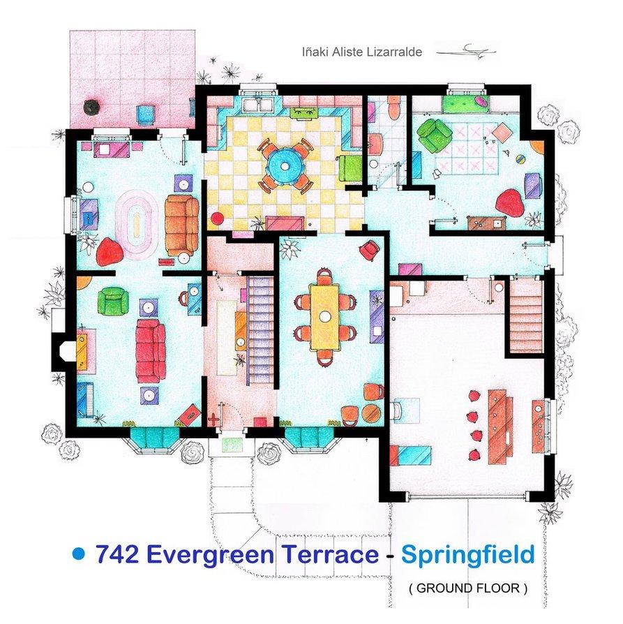 maison-simpson-springfield-plan-rdc