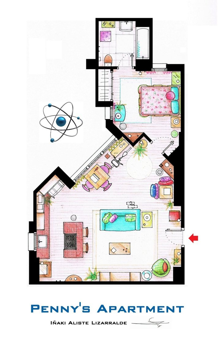 plan-appartement-penny-big-bang-theory