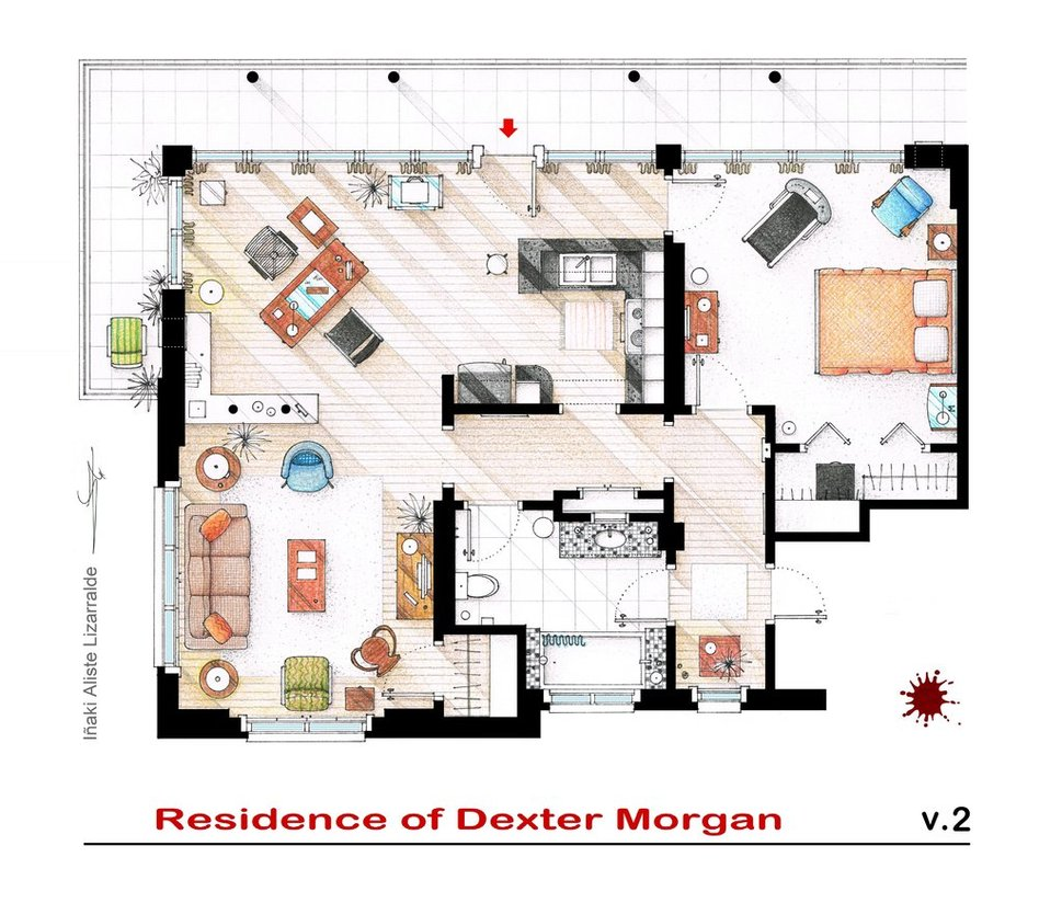 plan-appartement-serie-dexter-morgan