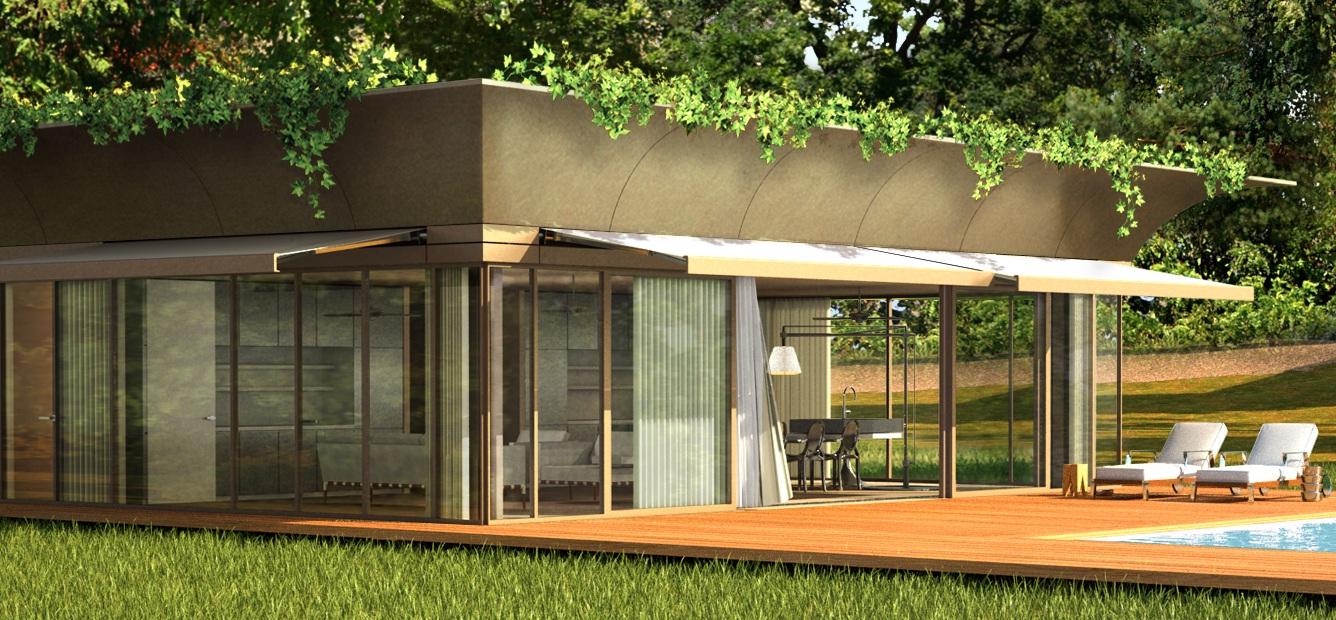Starck et l 39 entreprise riko lancent la maison cologique en kit - Maison en kit ecologique ...