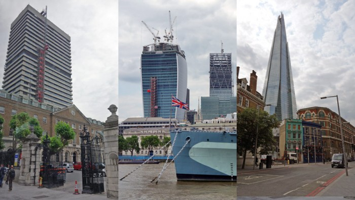 Guy?s Hospital, 20 Fenchurch Street et The Shard, trois tours de la skyline de Londres