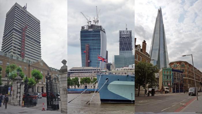 Guy?s Hospital, 20 Fenchurch Street et The Shard, trois tours de la skyline de Londres