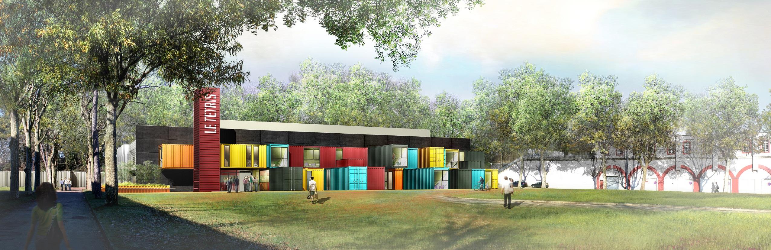 Le tetris une salle de spectacle multicolore compos e de for Tetris havre