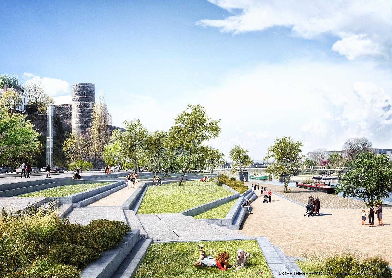 Angers rives nouvelles requalification des berges de la for Architecture projet