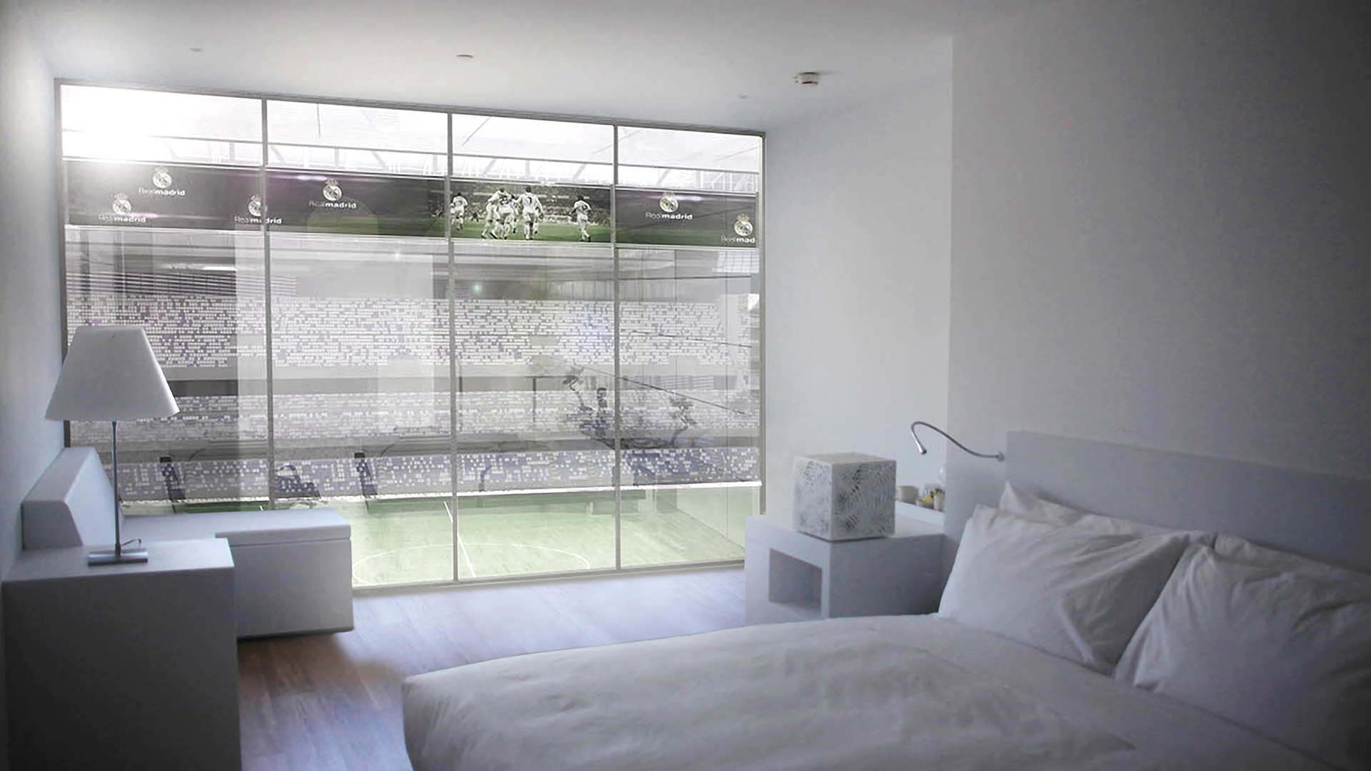 Nouveau design pour le stade du real madrid santiago bernab u for Decoration chambre real madrid