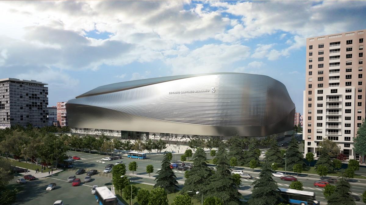 Nouveau design pour le stade du real madrid santiago bernab u - Architekten stade ...