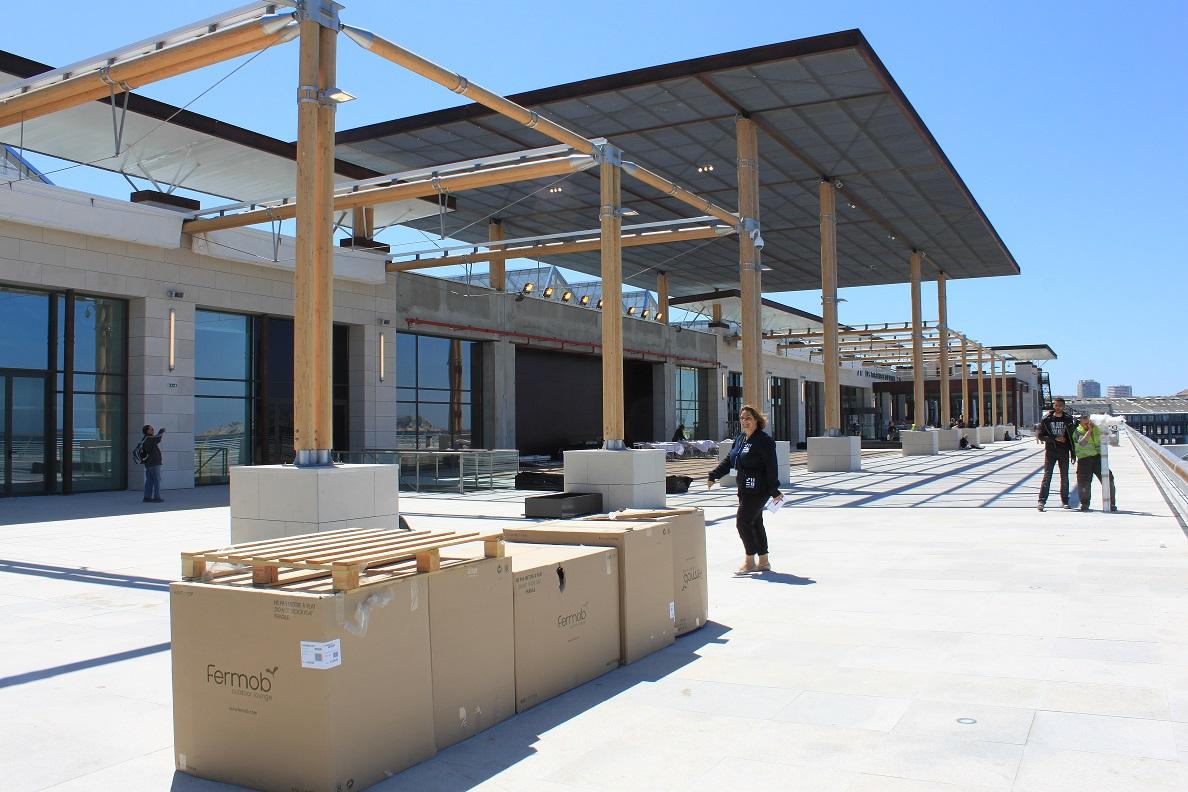 Visite du chantier des terrasses du port marseille - Centre commercial les terrasses du port marseille ...