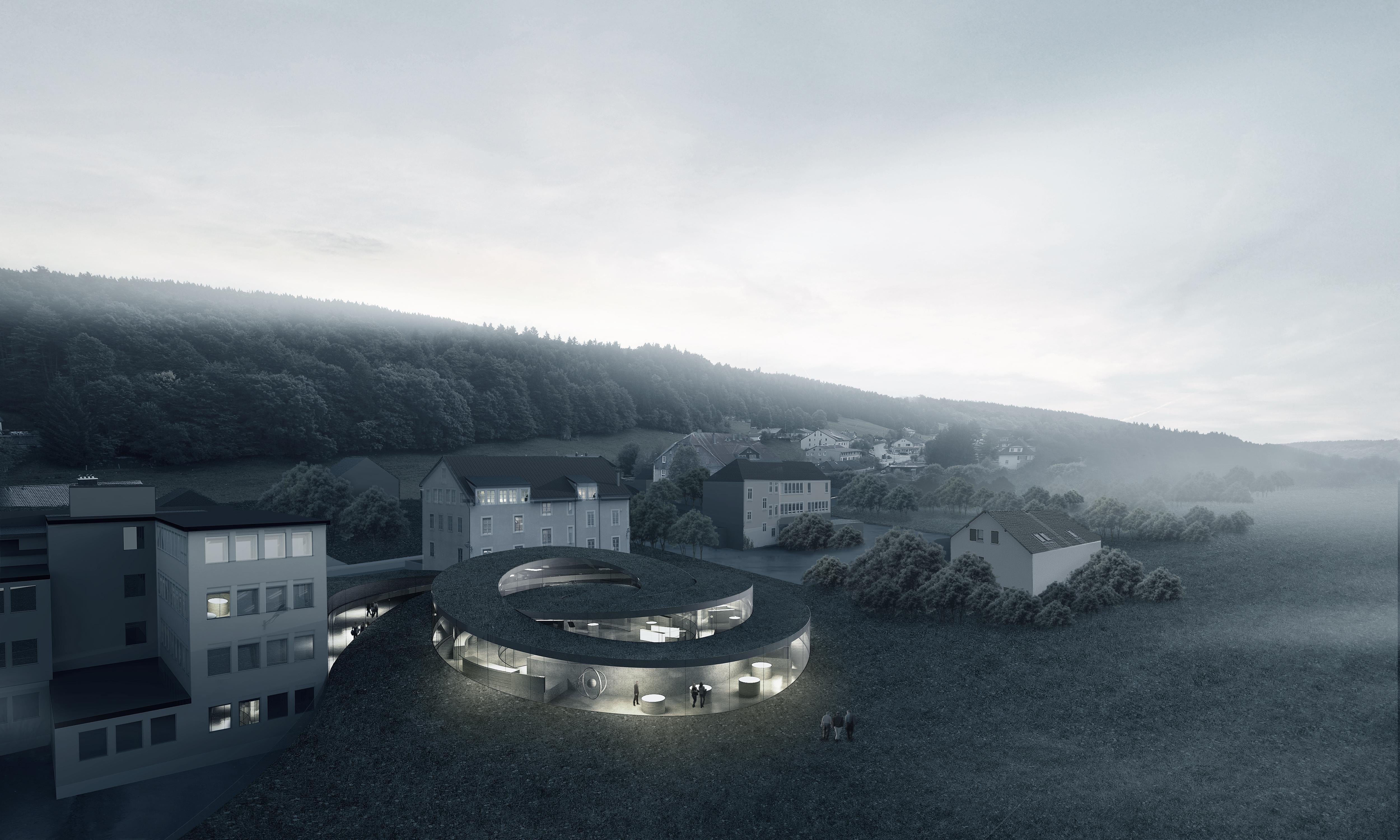 Big imagine une spirale pour le mus e des horlogers suisses - Maison campagne suisse fovea architects ...