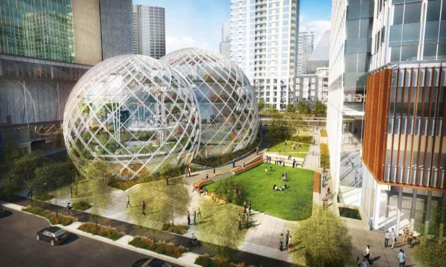Amazon soffre un si ge social futuriste et colo en bulles for Architecture futuriste ecologique