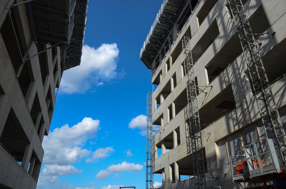 Visite de chantier - fin du gros œuvre, Le Quatuor, Roubaix. 9