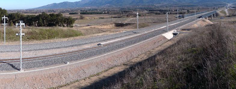 LGV eiffage construction voies ferroviaire LGV Mans Rennes : ouvrage confié à Eiffage. Début des travaux