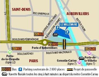 Ouverture du plus grand centre commercial hqe de france - Porte d aubervilliers plan ...