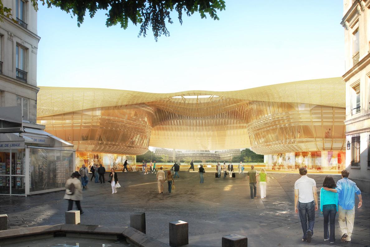 Canopee projet renovation forum halles paris for Projet architecture paris
