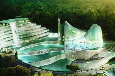 Le futur centre aquatique de lormont les cascades de for Architecture futuriste