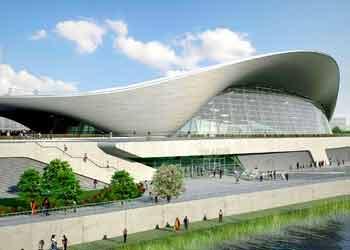 centre aquatique londres zaha hadid architecte1 Zaha Hadid expose à lInstitut du Monde Arabe pour Chanel