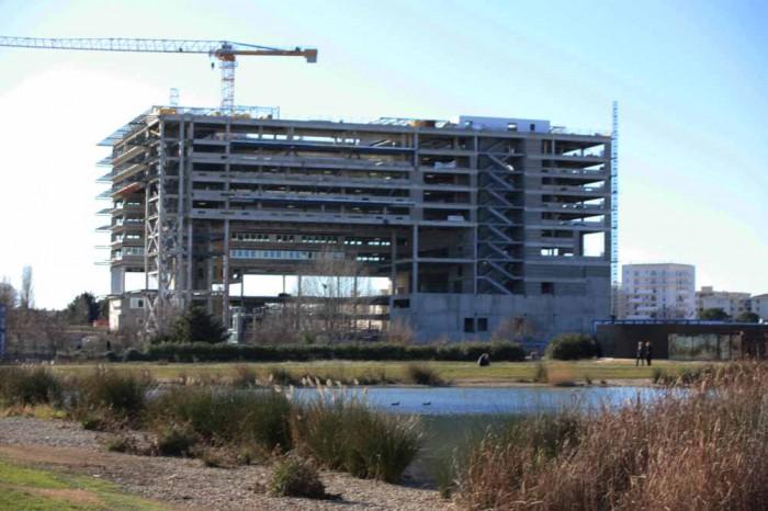 L 39 actualit des travaux montpellier la mairie par jean nouvel des lo - Hotel de ville montpellier jean nouvel ...