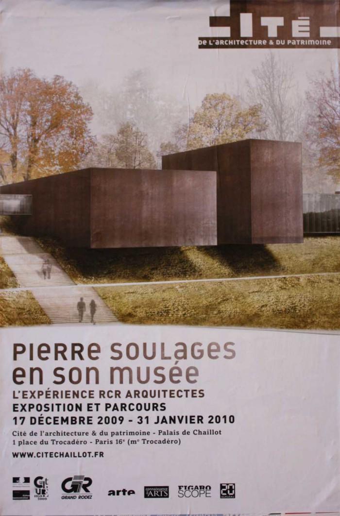 cite chaillot exposition soulages musee palais affiche 700x1062 Lexposition Pierre Soulages à la cite de larchitecture : visite guidée!