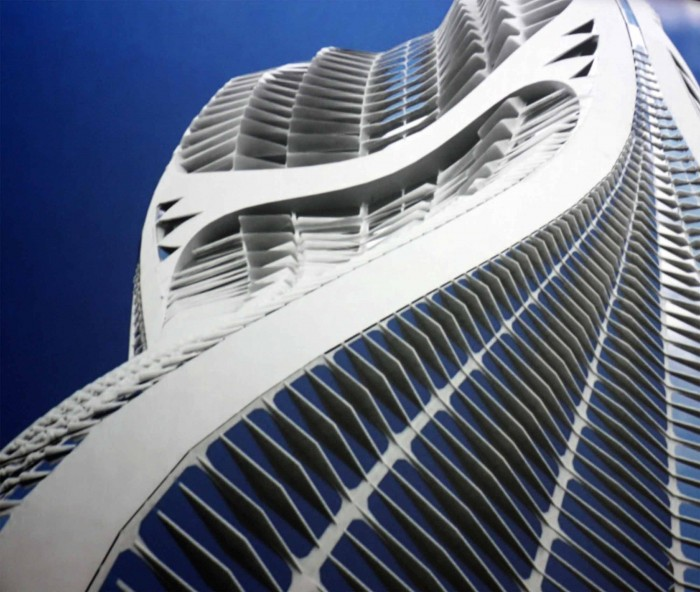 courbes saphira tower maroc zaha hadid 700x592 Photos de lexposition Zaha Hadid  linstitut du monde arabe  Paris , Pavillon Chanel