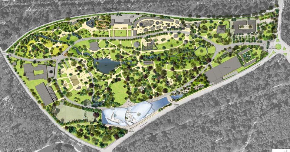 de construire pour la fondation Louis Vuitton dans le bois de Boulogne