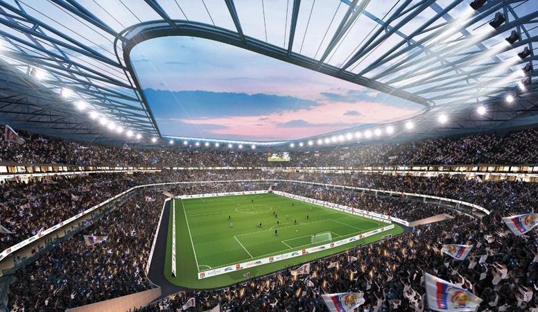 Le projet du futur grand stade ol land candidat l euro 2016 for Jardin couvert lyon