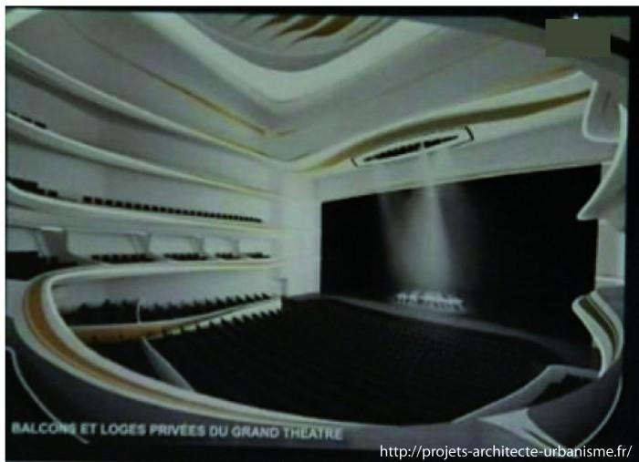 grand theatre rabat 700x507 Le Grand Théâtre de Rabat conçu par Zaha Hadid