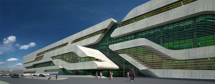 image synthese archives herault hadid La cité administrative de l'Hérault à Montpellier. Architecte : Zaha Hadid