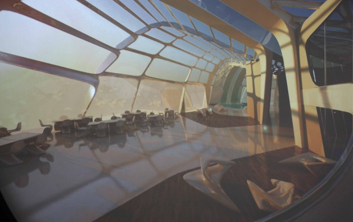 interieur saphira tower zaha hadid 700x440 Photos de lexposition Zaha Hadid  linstitut du monde arabe  Paris , Pavillon Chanel