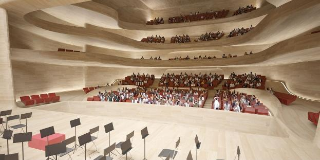 maison culture art amman petra zaha hadid theatre La maison de la culture et de lart en Jordanie par Zaha Hadid