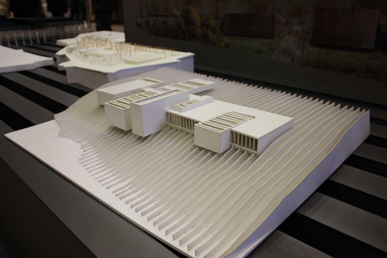maquette topographie musee soulages rodez rcr architecte. Black Bedroom Furniture Sets. Home Design Ideas