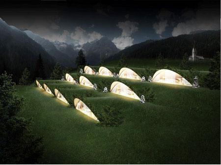 un h tel effet montagne par l 39 architecte matteo thun. Black Bedroom Furniture Sets. Home Design Ideas