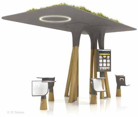 Un mobilier urbain intelligent et interactif paris fin 2011 - Mobilier urbain design ...