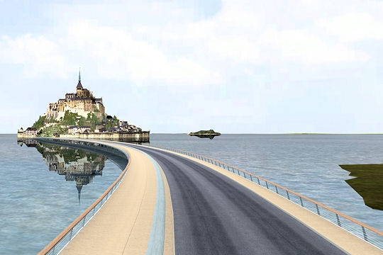 mont-saint-michel-passerelle-reamenagement-ile