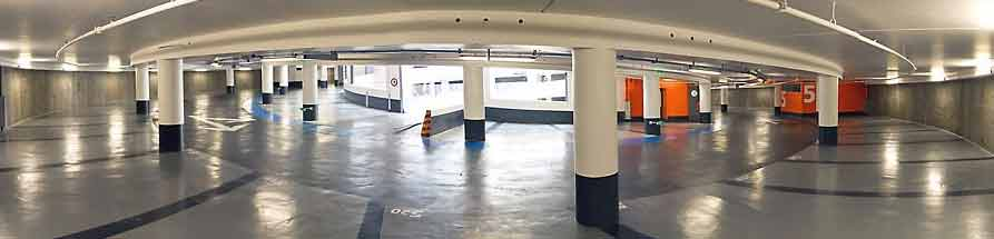 pano parking sous sol forme circulaire double helice hanier architecte Parking sous terrain  Nantes : prsentation dune construction originale en double helices