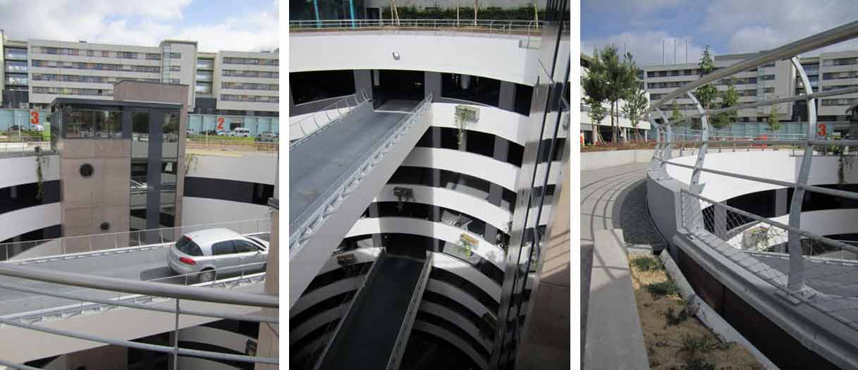 parking double helice sous terrain nantes jl hanier Parking sous terrain  Nantes : prsentation dune construction originale en double helices