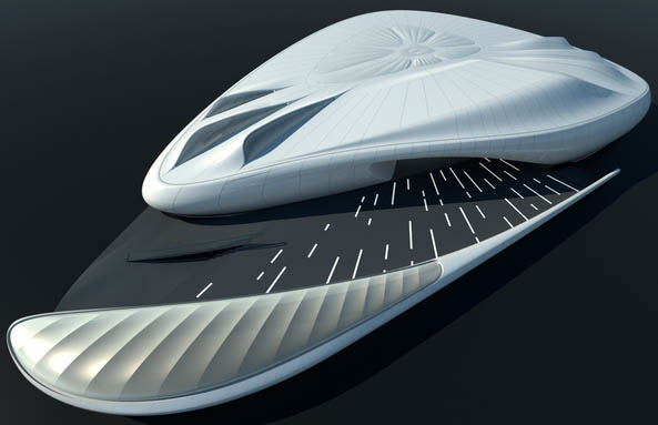 pavillon chanel zaha hadid1 Zaha Hadid expose  lInstitut du Monde Arabe pour Chanel