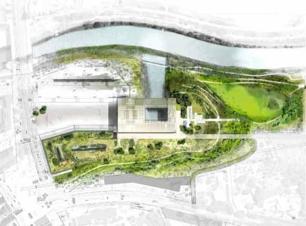 Date de livraison mairie de montpellier par jean nouvel for Plan masse architecture