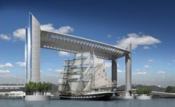 Pont bacalan vinci bordeaux levant - Le pont levant de bordeaux ...
