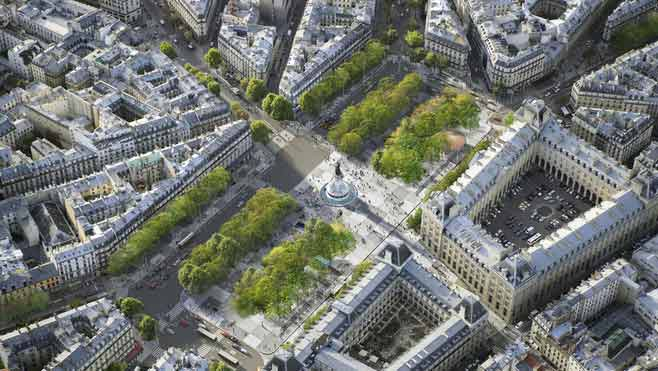 projet nouvelle place de la republique paris Lancement de lenquête publique pour la Place de la République, Paris