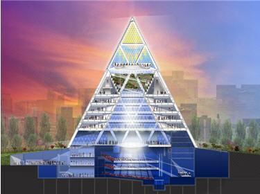 Norman foster architecte laur at du prix pritzker 1999 for Architecte de pyramide
