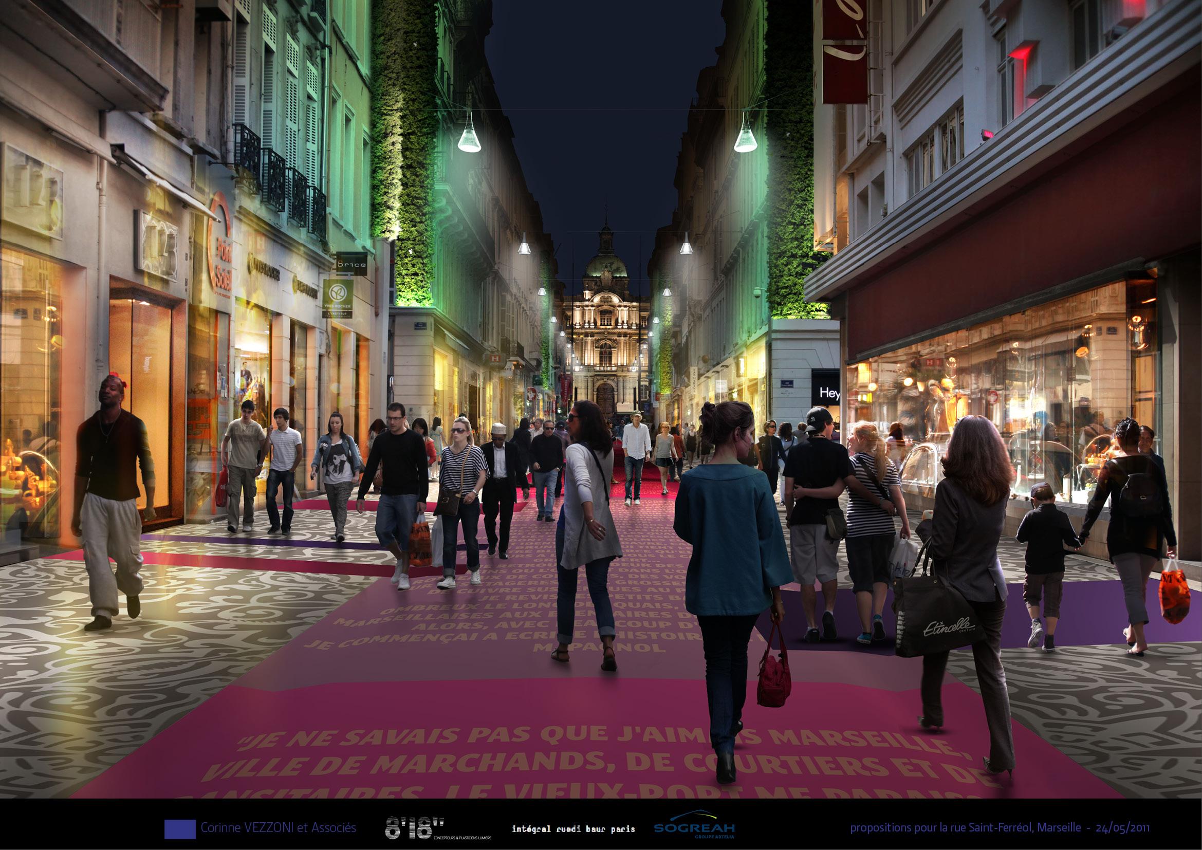 vezzoni propose un projet pour la rue saint ferr ol marseille. Black Bedroom Furniture Sets. Home Design Ideas