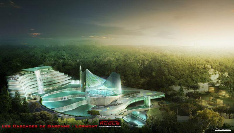 le futur centre aquatique de lormont les cascades de garonne architecturion. Black Bedroom Furniture Sets. Home Design Ideas