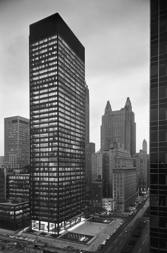 seagram building mies van der rohe Mies van der Rohe